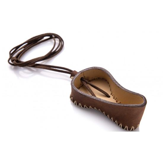 Чехол кожаный, коричневый для маленького варгана без инструмента