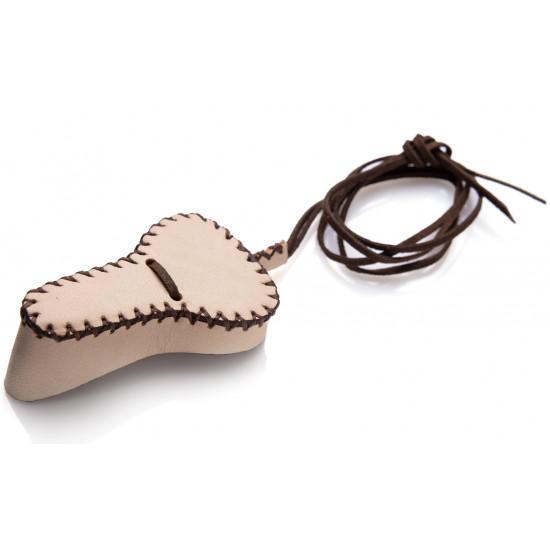 Чехол кожаный, кремовый для маленького варгана без инструмента